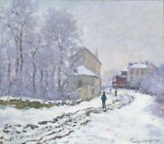 Claude Monet Collectable Snow At Argenteuil Art Work