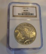 1923 Ngc Certified Peace Dollar Ms65 015