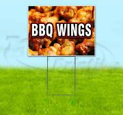 Bbq Wings 18x24 Yard Sign With Stake Corrugated Bandit Usa Business Barbeque