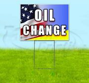 Oil Change 18x24 Yard Sign With Stake Corrugated Bandit Usa Business Auto Repair