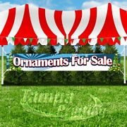 Ornaments For Sale Advertising Vinyl Banner Flag Sign Large Xxl Size Christmas
