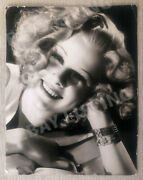Vintage 1936 Publicity Photo Of Beautiful Jean Harlow By George Hurrell
