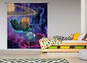 3d Cosmic Planet Kittens O028 Photo Curtain Printing Fabric Window Vincent Amy