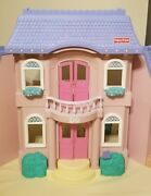 Lot Of Vintage 1997 Fisher-price Loving Family Grand Dollhouse And 6 New Sets