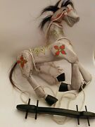 Vintage Muffin The Mule Style Marionette Wooden Horse Mule Puppet