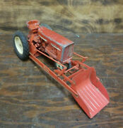 Vintage Tru Scale Metal Tractor- Farm Toy With Front Loader Made In Usa