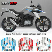 For Bmw G310gs Stereo Pasters Motocycle 4 Wheel Stripes 2 Side Rim Decals Tape