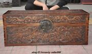 36 Old Dynasty Huanghuali Wood Dragon Vessel Ancient Painting Box Storage Boxes