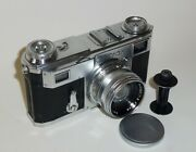 Camera Zeiss Ikon Contax Ii No.m33088 With Lens Zeiss Sonnar 2/5cm 1940-41 Years