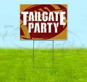 Tailgate Party 49ers 18x24 Yard Sign With Stake Corrugated Bandit Usa Football