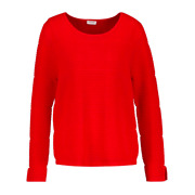 Gerry Weber Ribbed Texture Jumper Pullover Fiery Red Size Uk 12 - Bnwt