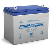 Power-sonic 12v 55ah Sla Replacement Battery For Wheel Horse Charger 10 Tractor