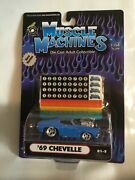 Limited Race Version Muscle Machines Hot Rod164 69 Chevelle