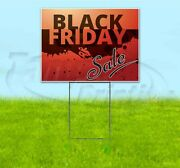 Black Friday Sale 18x24 Yard Sign With Stake Corrugated Bandit Business Deals