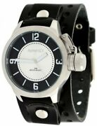 Nemesis B032ks Menand039s Premium Wide Leather Cuff Band Russian Diver Watch