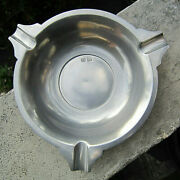 Vintage Collectible John Somers Js X Mg Brazil 3 Rest Large Pewter Ashtray Mint