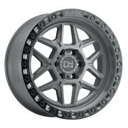 Black Rhino Kelso 18x9 5x127 Et0 Gray W/blk Edge And Blk Bolts Qty Of 4