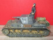 Panzer 4 Allemand Ww2 King And Country Sans Boite - Ws026 + Chef Pilote - Retired