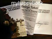 Signed They Called Us Enemy By George Takei, Autographed, New