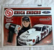 Signed Erica Enders Cagnazzi Racing Cavalier Nhra Photo Card 8 X 10 N565
