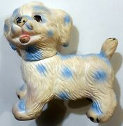 Vintage Large Squeeze Puppy Dog Made In Italy 1960s Ledraplastic