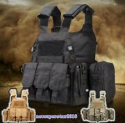 Tactical Medic Vest Waistcoat Molle Hookandloop Mag Pouch Interphone First-aid Bag