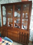 Antique 1960 China Cabinet Credenza By Kent Coffey Perspecta Dining Room Set