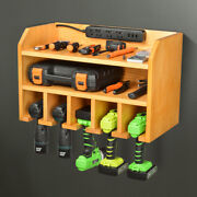 Cordless Drill Organizer Storage Wall Mount Power Tool Charging Station Cabinets