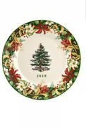 Spode Christmas Tree 2018 Annual Collectors Plate Holiday Xtag5345-xp