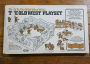 Ideal 1973 The Old West Playset Game Board Cowboys And Indians Fort Rare Vtg Incpt