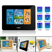 Digital Lcd Indoor And Outdoor Weather Station Clock Calendar Thermometer Wireless
