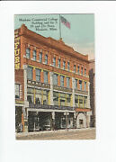 Vintage Postcard - Mankato Commercial College And 510 And 25 Cent Store - Mn - Gc