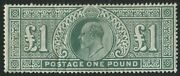 Sg266 1902-10 Andpound1 Dull Blue-green Fine Mounted Mint