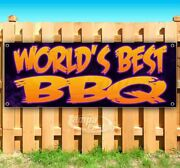 World's Best Bbq Advertising Vinyl Banner Flag Sign Many Sizes Usa Barbecue