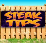 Steak Tips Advertising Vinyl Banner Flag Sign Many Sizes Available Usa Barbecue
