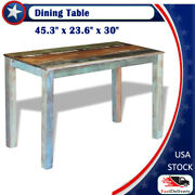 45 Dining Table Solid Reclaimed Wood Dining Room Kitchen Home Furniture Antique