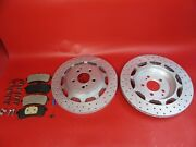 Mercedes Benz S63 S65 Amg Rear Brake Pads And Rotors Set 504 Topeuro