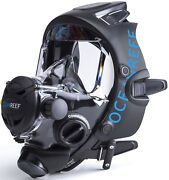 Ocean Reef Space Extender Full Face Mask W/2nd Stage Regulator And Mercury Com Sys