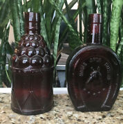 Wheaton Glass Bottles Set Of 2 Vintage-collector Item Free Shipping .