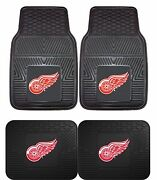 Detroit Red Wings Nhl Floor Mats 2 And 4 Pc Sets For Cars Trucks And Suv's