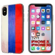 Thin Gel Phone Case Apple Iphone Xs,oldflag Russia Country Climate Nation Print