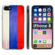 Thin Gel Phone Case Apple Iphone8,8s,7,7s,oldflag Russia Country Climate Print