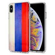 Thin Gel Phone Case Apple Iphone Xs Max,oldflag Russia Country Climate Print