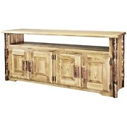 Rustic Log Tv Stands Solid Pine Amish Made Lodge Cabin Furniture Solid Pine