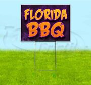 Florida Bbq 18x24 Yard Sign With Stake Corrugated Bandit Usa Business Barbecue