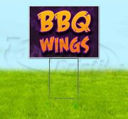 Bbq Wings 18x24 Yard Sign With Stake Corrugated Bandit Usa Business Barbecue