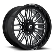 Fuel Ignite D662 22x12 6x139.7 Offset -43 Gloss Black And Milled Quantity Of 4