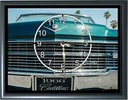 1966 Cadillac Grill Desk Or Wall Plaque Clock 7x 9 With Photo Realistic Photo