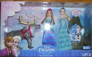 Disney Frozen Doll Friends Collection Giftset Elsa Anna Olaf Sven 4 Pack