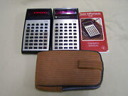 Lot Of 2 Vintage Texas Instruments Ti-30 Calculators W/ 1 Manual And 1 Case
